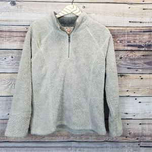 Dylan Small Tan Pullover Sherpa 1/4 Zip